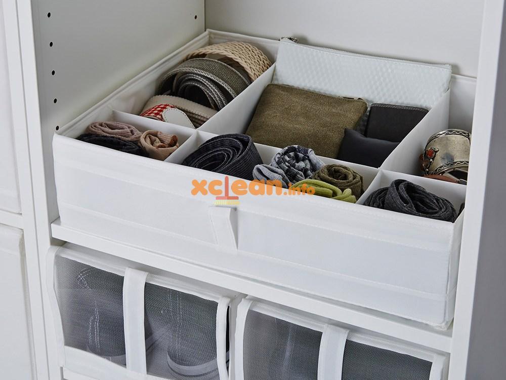 как сложить вещи в шкафу