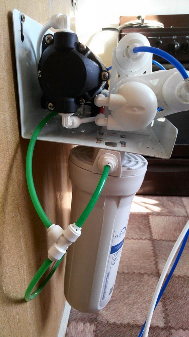 Фильтр для смягчения воды в ванной