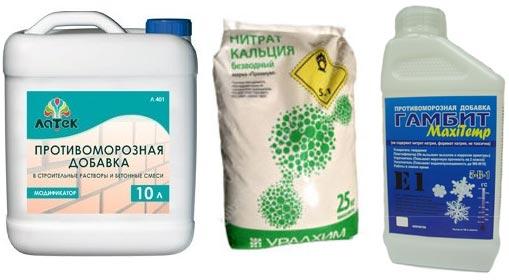 Советы по выбору противоморозной добавки в бетон