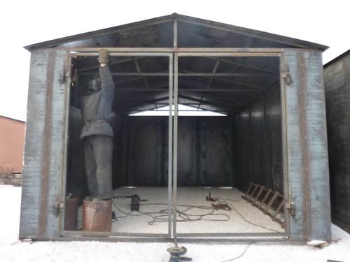 как утеплить железный гараж