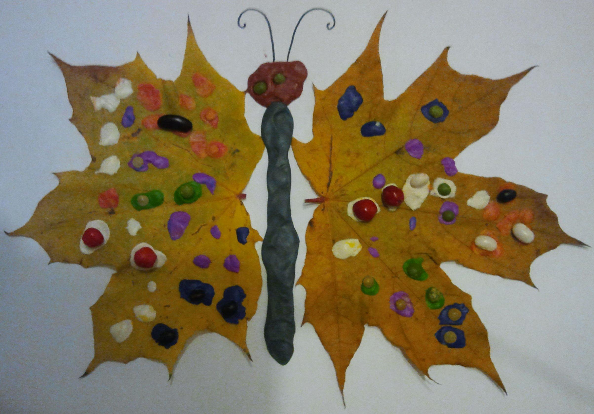 панно из осенних листьев для детей