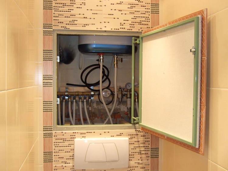 Как спрятать трубы в туалете 8 простых способов