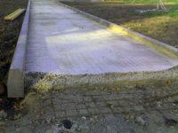 как сделать бетонную дорожку