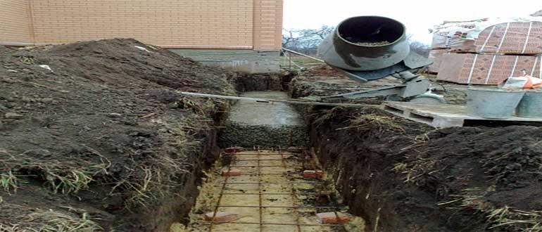 заливка бетона с армированием