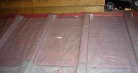 Укладка пароизоляции на потолок, пол, крышу и стены