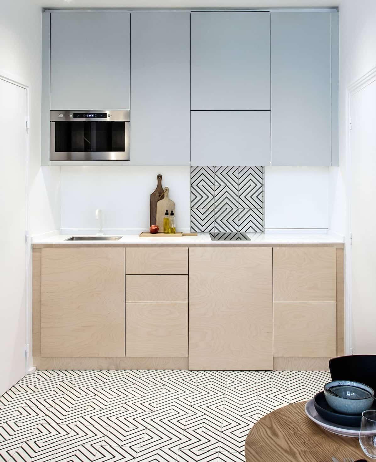 как расставить мебель в маленькой кухне