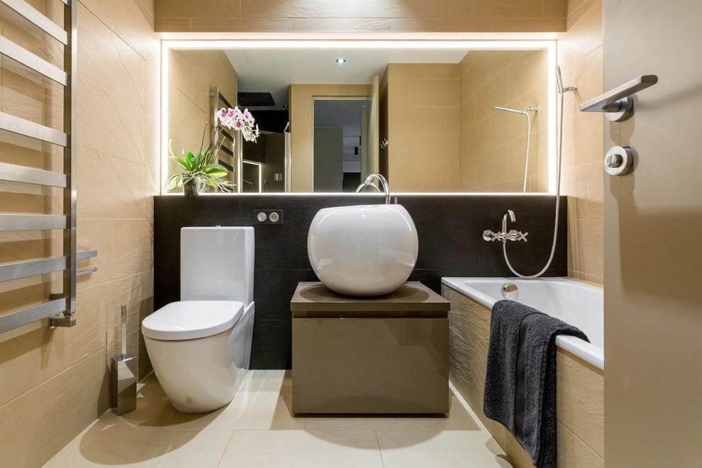 ванная совмещенная с туалетом правильный дизайн
