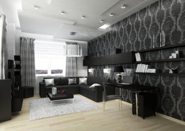Серо-черная гостиная: советы по дизайну и декору