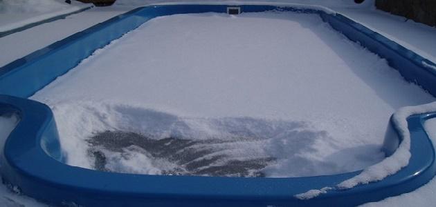 как хранить бассейн зимой