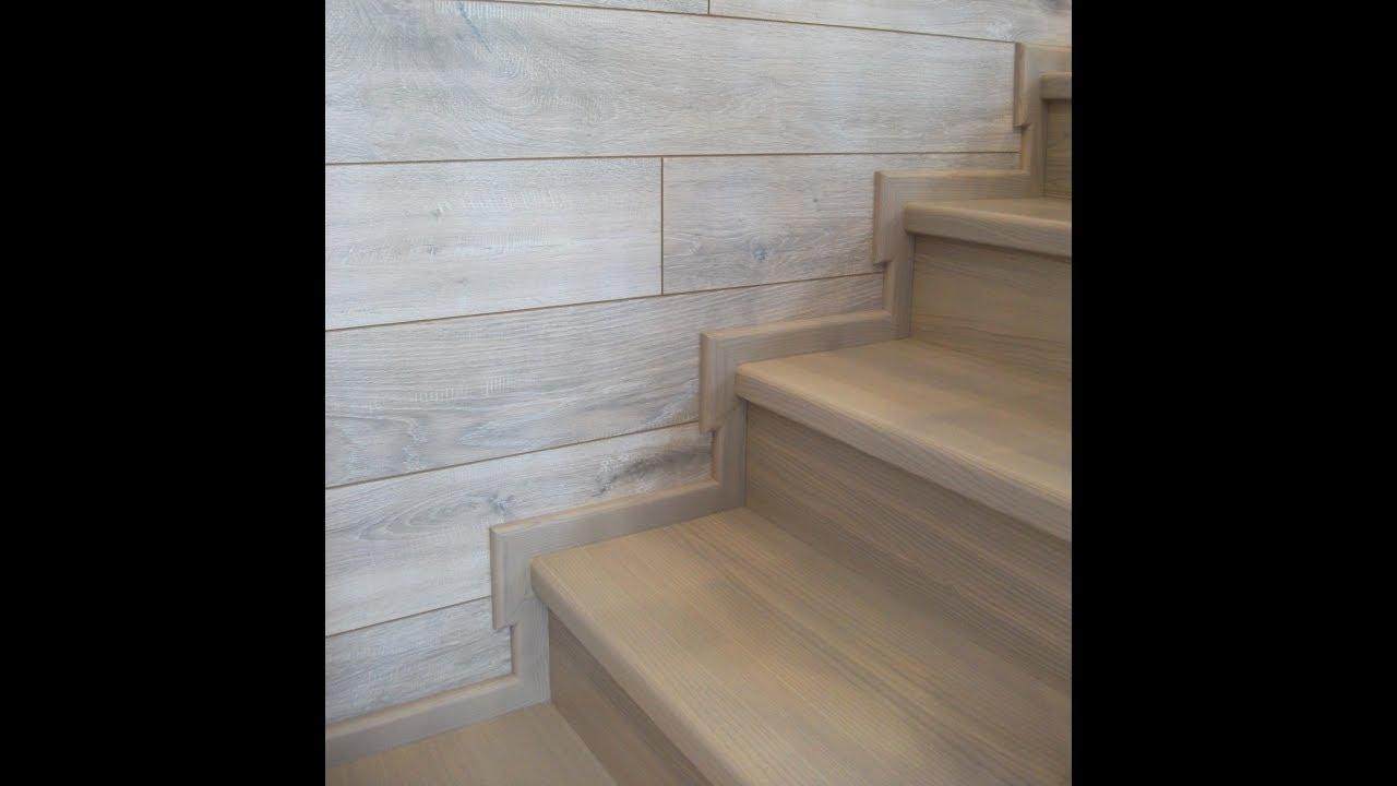 отделка лестницы на металлокаркасе
