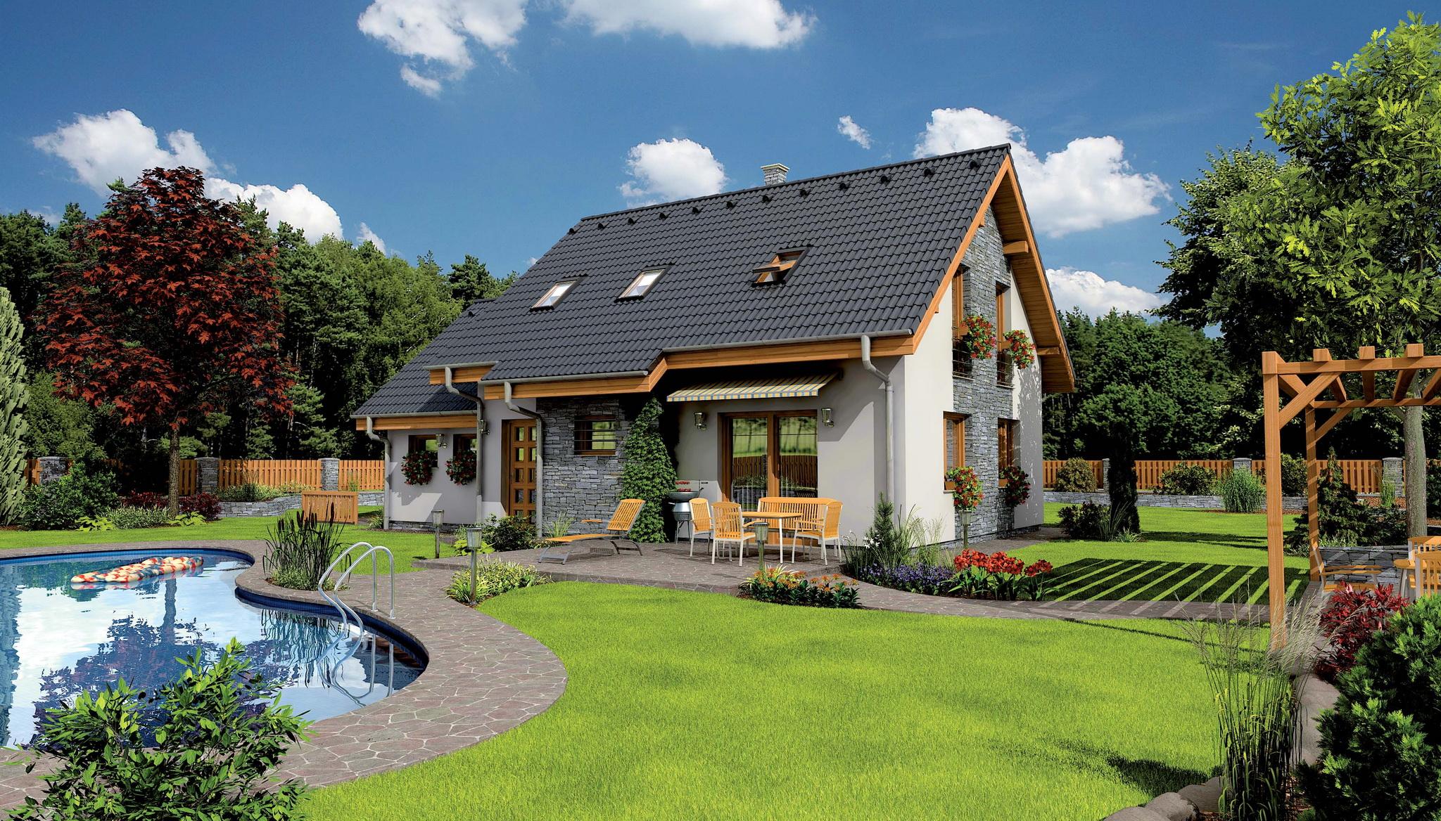 деревянные домики для дачи