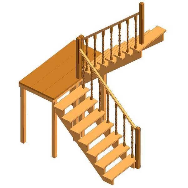 Способы окраски лестницы из сосны