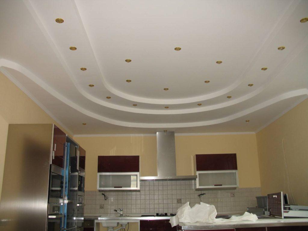 Делаем фигурный потолок из гипсокартона своими руками