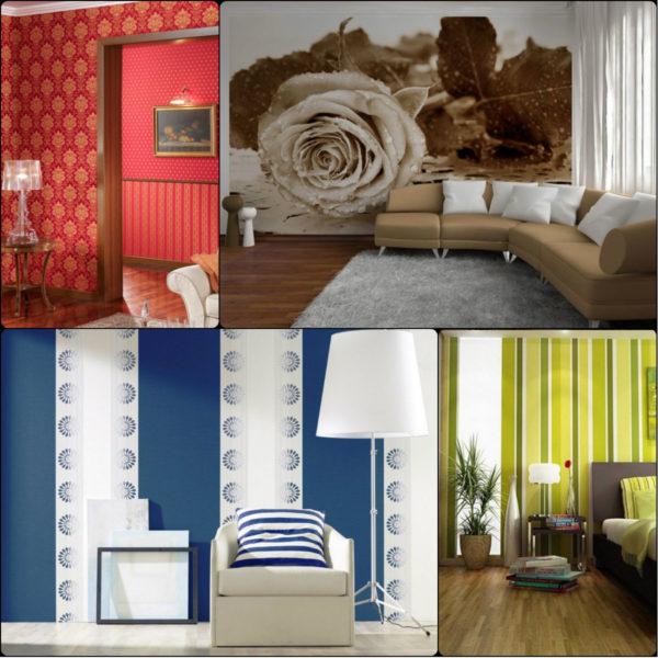 Однотонные обои в интерьере: преимущества цвета (26 фото)