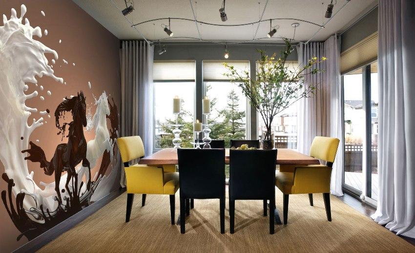 3д обои на стену: фото для гостиной в квартире, стереоскопические обои