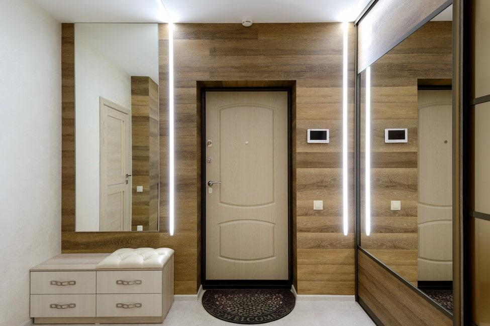 Темные межкомнатные двери в интерьере квартиры: фото