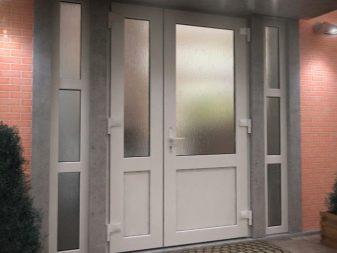 пластиковые входные двери фото