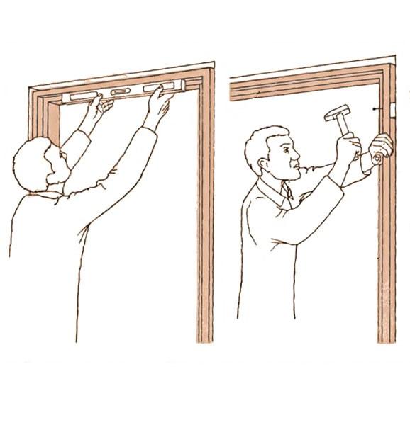 установить межкомнатную дверь с коробкой самостоятельно
