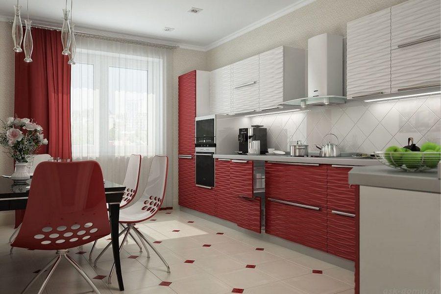 дизайн штор для кухни с балконной дверью