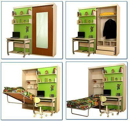Мебель-трансформер: интересные примеры нестандартных решений