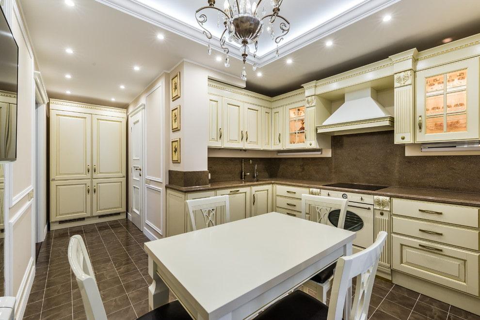 Классические кухни — 105 фото идеального и стильного дизайна