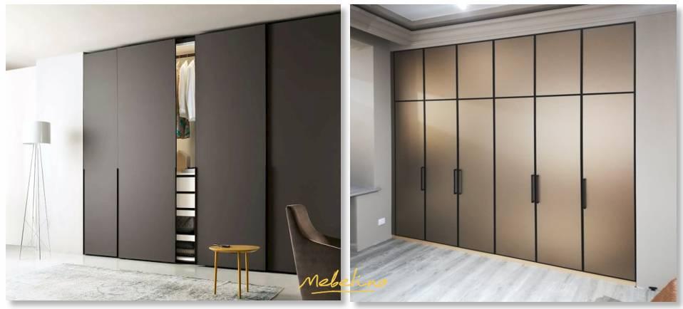 Встроенные модели шкафов-купе для спальни: дизайн и подбор места размещения