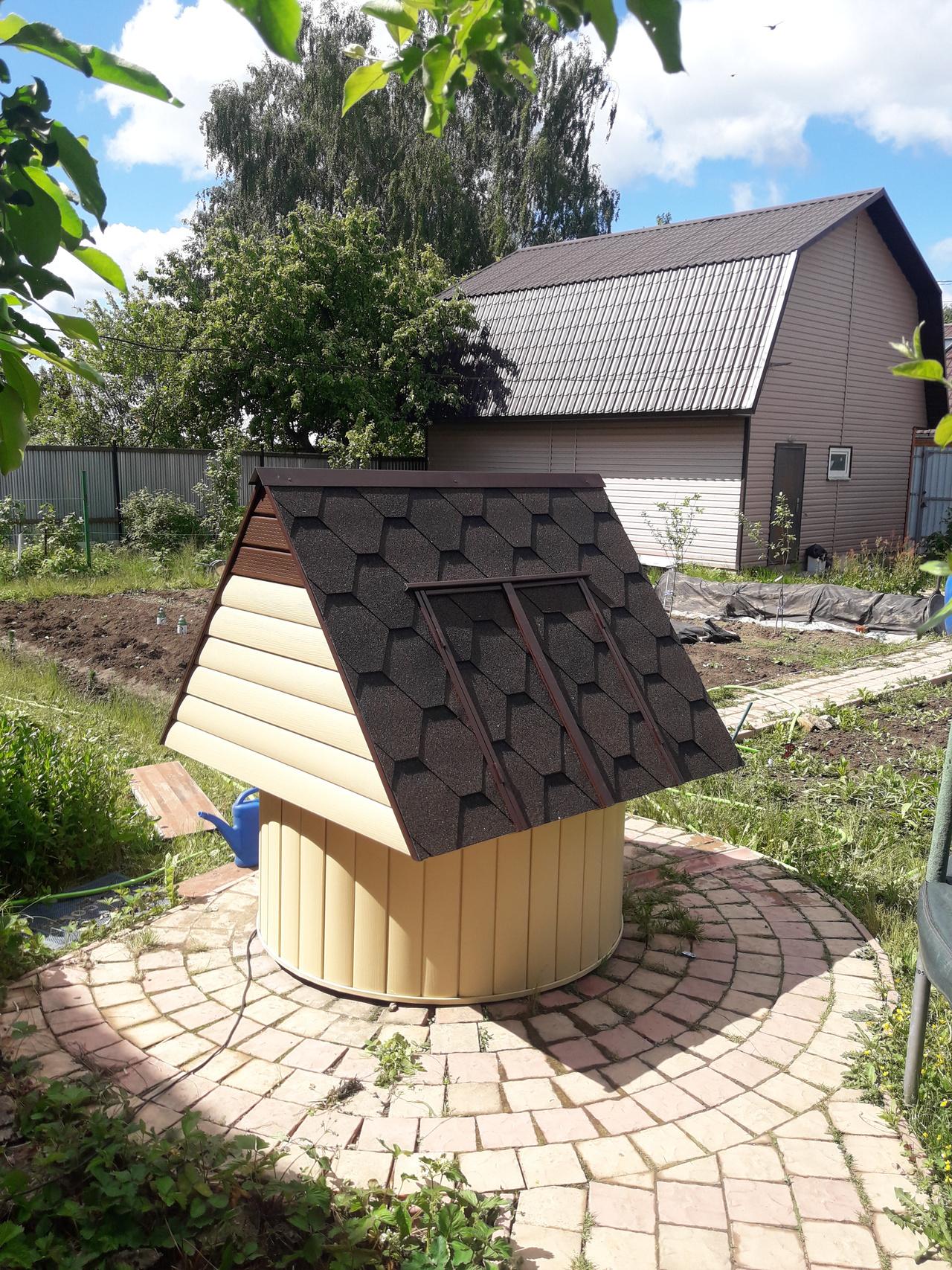 Колодцы на даче и их отделка снаружи: как красиво облагородить и обустроить, оформление, дизайн, фото