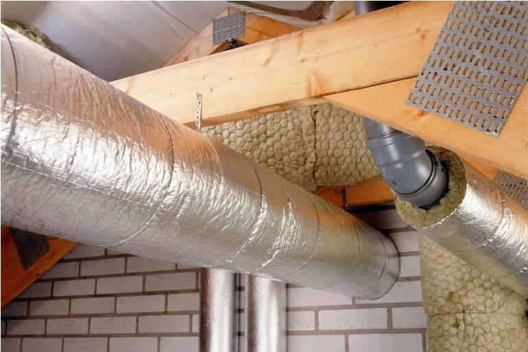 Теплый «пирог» для металлического дымоходного канала