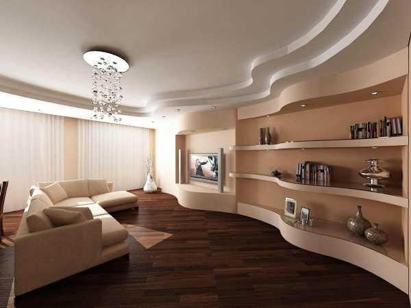 фигурный потолок из гипсокартона фото