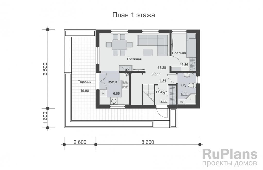 Дом 6 на 10 - оформляем со вкусом! 95 фото готовых дизайн-проектов