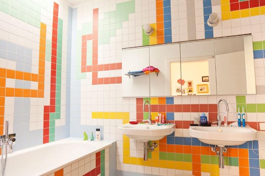 Варианты раскладки плитки в ванной комнате: фото