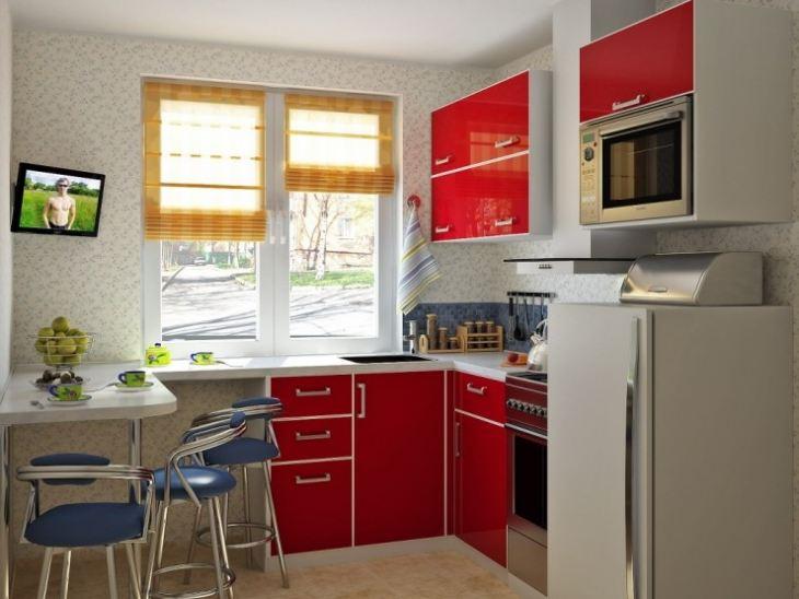 кухня маленькая современный дизайн