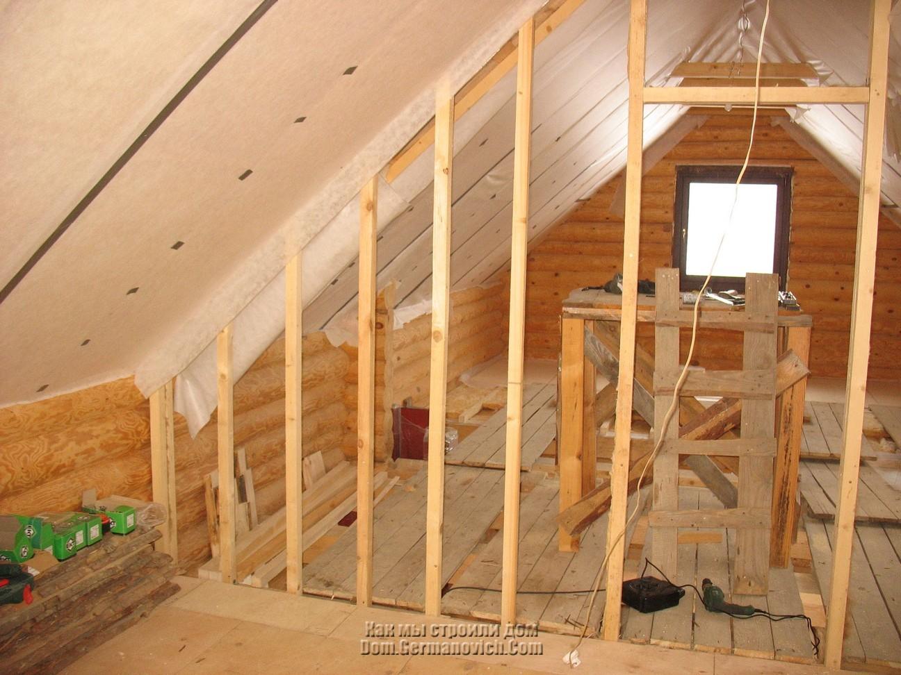 Межкомнатные перегородки в деревянном доме своими руками - о нюансах в строительных работах