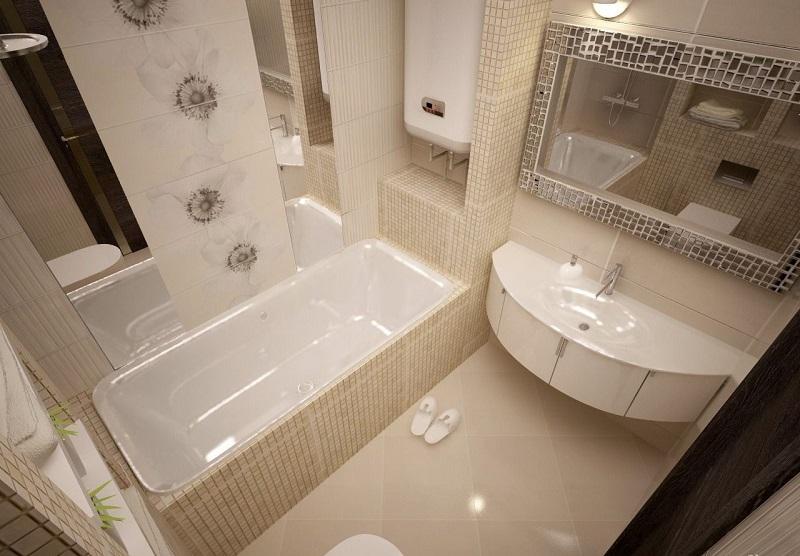 Примеры модной плитки для маленькой ванной комнаты 2020: 50 фото