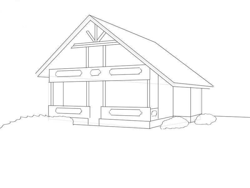Как нарисовать дом - уроки для начинающих и примеры выполненных работ карандашом