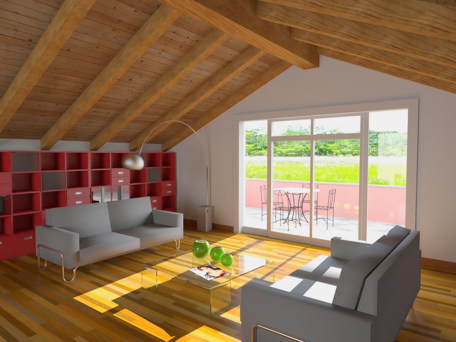 Проект мансарды с двускатной ломаной крышей - кровля и крыша