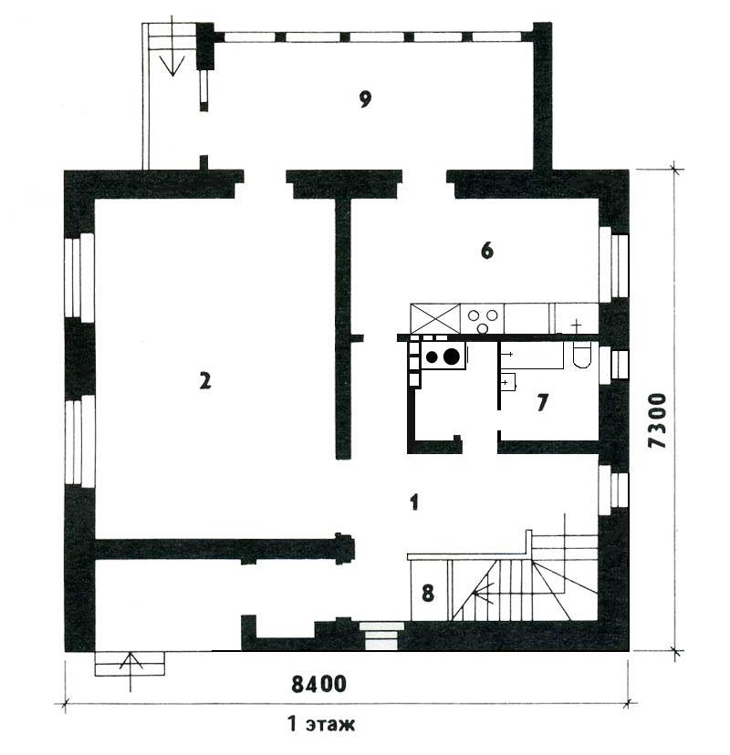 Дом 7х7: лучшие проекты и выбор материала