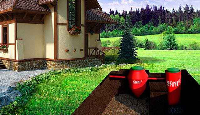 Септик эколос - sani для частного дома или дачи
