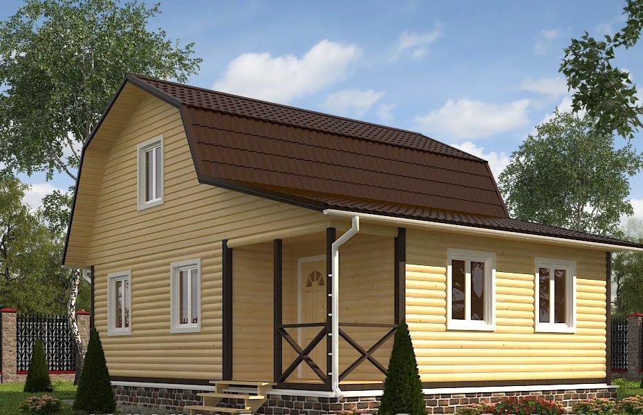 Проекты двухэтажных домов 7 на 9, планировки 7х9, цены на строительство в москве, фото