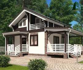 Планировка дома 7 на 8 одноэтажные, двухэтажные, с мансардным этажом: проект дома +видео