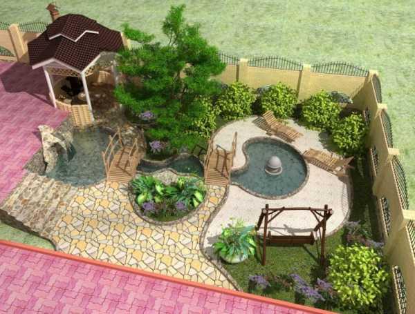 двор частного дома