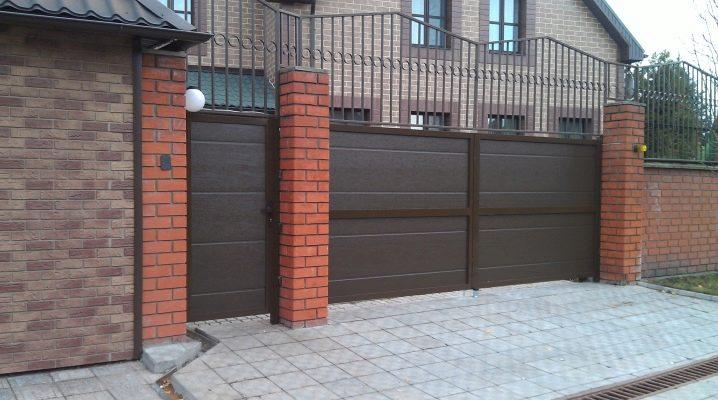 варианты ворот для частного дома