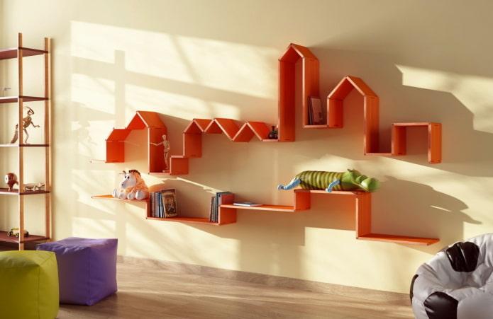 Оригинальные идеи дизайна полок на стену: решения для любого интерьера