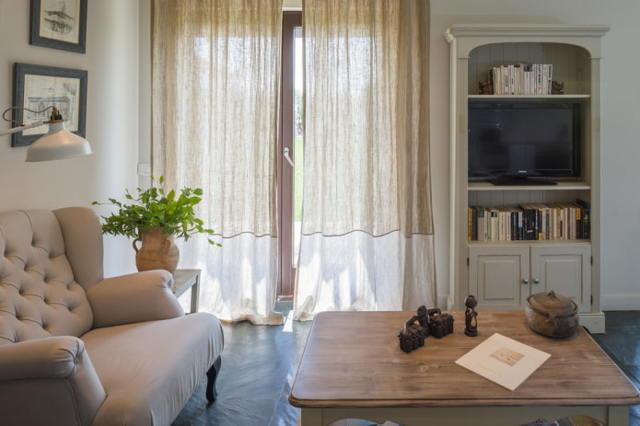 Льняные шторы в интерьере +50 примеров тюли, расцветок на фото