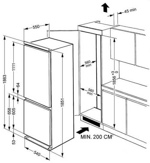 Куда правильно установить холодильник? что важно учитывать при выборе места?