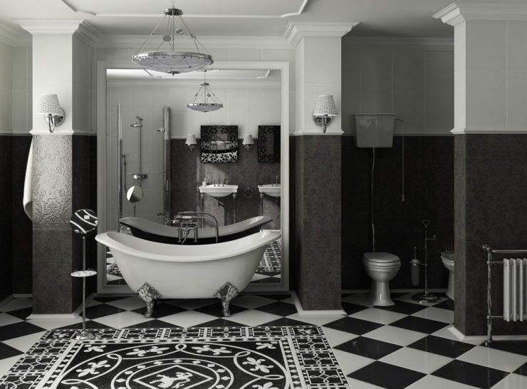Черно-белый интерьер и его сочетания: фото идеи дизайна, рекомендации