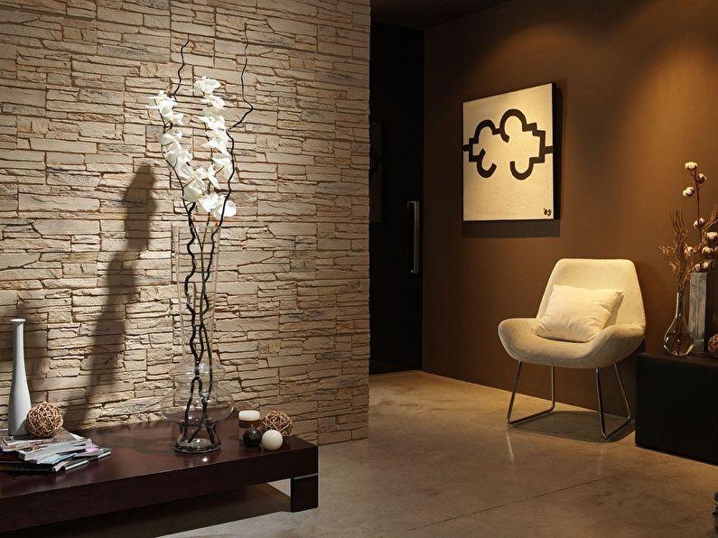 Облицовка стен искусственным камнем и его изготовление