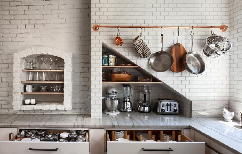 Рейлинги для кухни (90 фото): виды, особенности