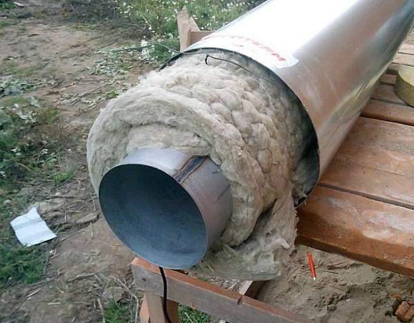 как утеплить трубу водопровода