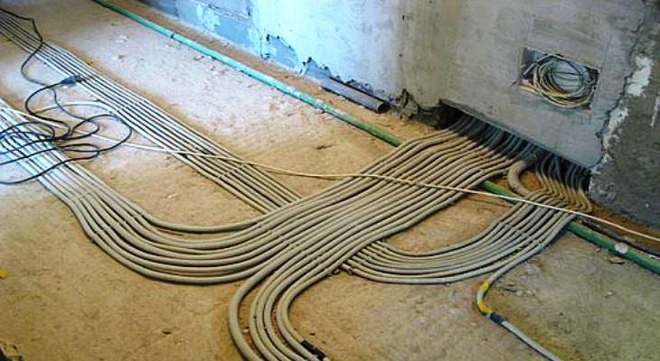 проводка по полу в квартире